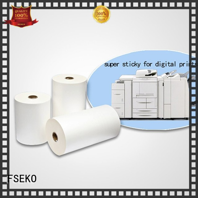 sticky gloss super stick laminating film thermal FSEKO