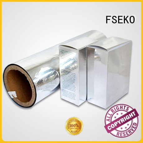 Custom sale pet metalized film manufacturer FSEKO pds
