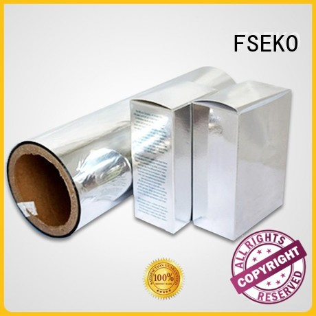 Custom sale pet metalized film manufacturer FSEKO pds