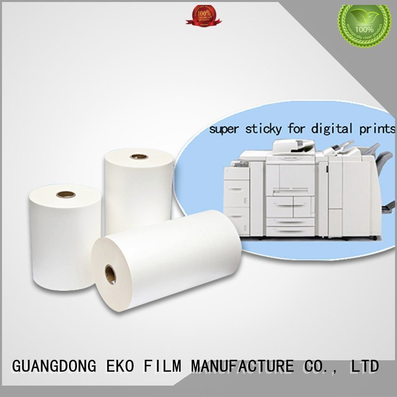 thermal bonding super stick laminating film glossy sticky FSEKO company